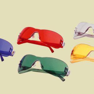 Farbige Brillen - Fünf Elemente