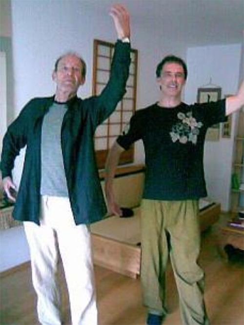 Michael Mendl mit Dokuho als Personal Trainer für QiGong